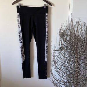 Victoria's Secret Pink Ultimate Gym/ Athleisure Pants Small Black Stretch